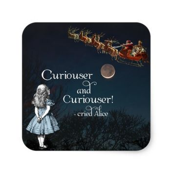 Alice in Wonderland Curiouser Christmas Stickers