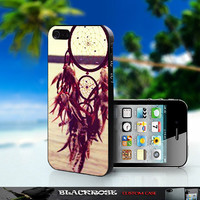 Dream Catcher At The Sea Side - BR042 - Design on Hard Cover - For iPhone 4 / 4S, iPhone 5 CASE - Black, White, And Clear