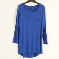 Loose Fitting Long Sleeve Shirt with Pocket