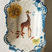 Nature Table Serving Tray by Lou Rota Blue Tray Serveware