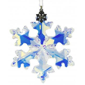 Swarovski Christmas Snowflake Ornament 25TH ANNIVERSARY Ornament 2016 #5258537