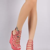 Breckelle Honeycomb Platform Wedges