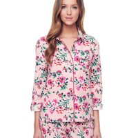 Winter Blossoms W/ Winter Blossom Flannel Pj Top by Juicy Couture,