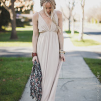 Sun-Kissed Beige Maxi Dress - Three Bird Nest | Women's Boho Clothing & Indie Accessories