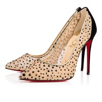 Follies Lace 100 Black/Naturel Dentelle - Women Shoes - Christian Louboutin