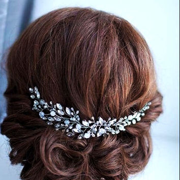 Metting Joura Wedding Bridall Bohemia Crystal Glass Beads With Rhinestone Headbans Hair Accessories Jewelry