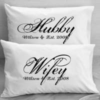 Couples  Pillow Cases  Custom Personalized  Wifey by eugenie2