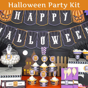 PRINTED Spooky Halloween Party Decorations