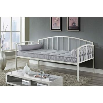 Twin Size White Metal Day Bed Frame - 600 LB Weight Limit 2