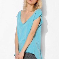 Project Social T High/Low Raw Tunic Pullover Sweatshirt - Urban Outfitters