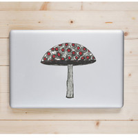 "Mushroom Die Cut Sticker // Trippy Psychedelic Decal // Cell Phone & Tablet Medium XL // 8"" // Perfect For Indoor, Outdoor, Laptop, Car"