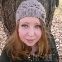 Spiral Shells Crochet Slouch Beanie Slouchy Hat