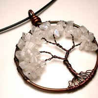 Moonstone Tree of Life Pendant- Femininity