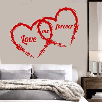 Vinyl Wall Decal Love Couple Heart Romantic Bedroom Decor Stickers Unique Gift (ig3611)