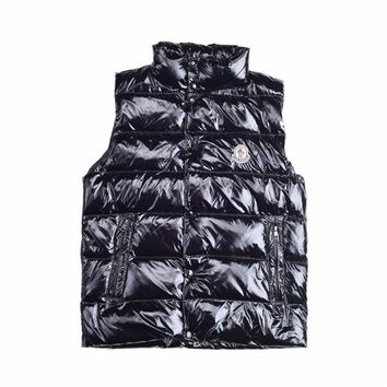 Moncler Men's Down Full Zip Button Down Vest - Best Deal Online