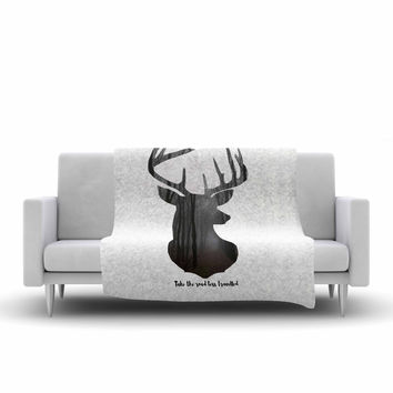 """Suzanne Carter """"The Road2"""" Contemporary Nature Fleece Throw Blanket"""