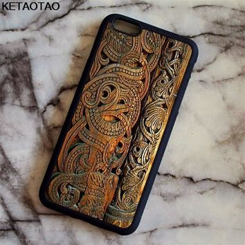 KETAOTAO Viking Ragnar Lothbrok Phone Cases for iPhone 4S 5C 5S 6 6S 7 8 Plus XR XS Max for X6 Case Soft TPU Rubber Silicone