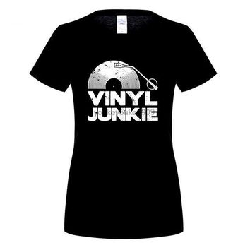 Vinyl Junkie - Music DJ - Women's T-shirt
