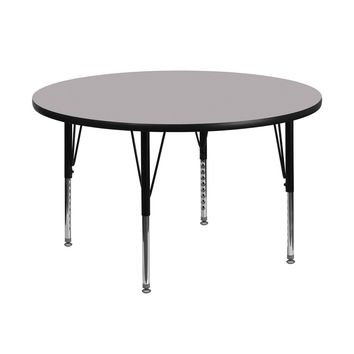 "Flash Furniture 48"""" Round Preschool Daycare Kids Learning Play Activity Table Grey"