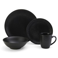 Gourmet Basics Ridgewood 16-pc. Dinnerware Set (Black)