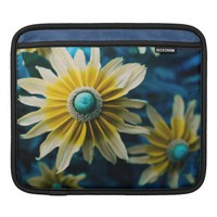 Yellow, Blue and White Floral Photography iPad Sleeve