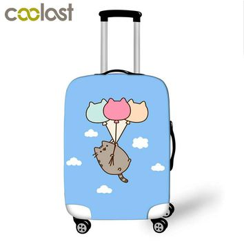 Elastic Travel Luggage Protective Dust Cover Waterproof Suitcase Cover to18-28inch Case cut pusheen cat Dust-Proof Baggage Cover