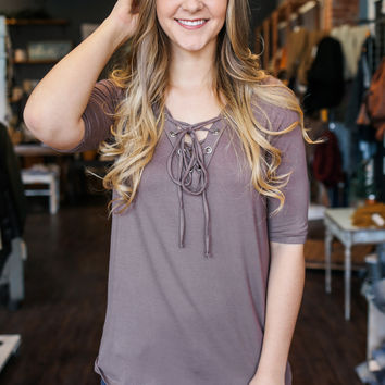 Hearts Desire Top - Dark Taupe