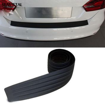 DCK9M2 Car Styling Rubber Rear Guard Bumper Protect Trim Cover Pad Scuff Sill Protector Scuff For Skoda Octavia A7 Fabia Superb B6 Yeti