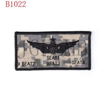 Can change the LOGO U.S.AIR FORCE Custom name Tapes Text brand Morale tactics Military Embroidery patch