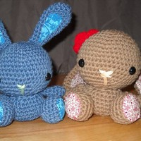 Handmade Crochet Mini Springtime Bunny Made To Order