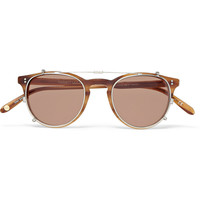 Garrett Leight California Optical - Milwood Tortoiseshell Acetate Optical Glasses with Clip-On UV Lense | MR PORTER