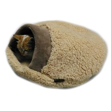 60x50cm Soft Warm Cozy Cat Sleep Bag Cat House Cat Bag Sheep Fabric