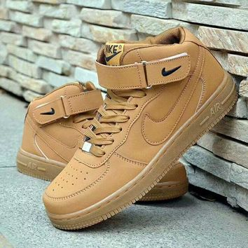 """Nike Air Force 1"" Unisex Casual Fashion High Help Plate Shoes Couple Sneakers"