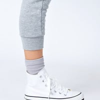 Converse All Star White Platform High Top Trainers