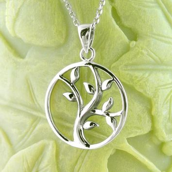 Simple Swaying Tree of Life Necklace