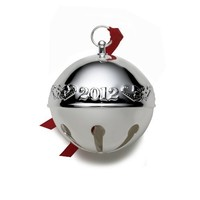 Wallace 2012 Silver Plated Sleigh Bell Ornament, 42nd Edition