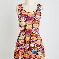 Quirky Short Length Sleeveless A-line Homemade for Each Other Dress