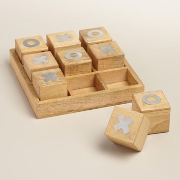 Wood Tic Tac Toe Decor