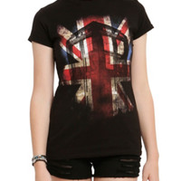 Doctor Who Union Jack TARDIS Girls T-Shirt