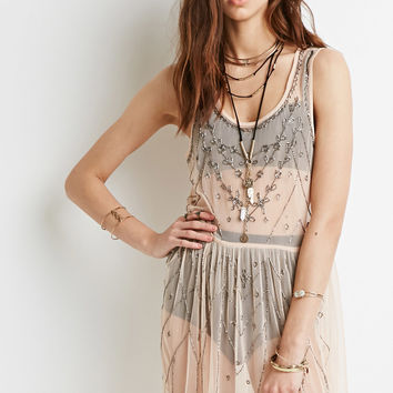 Beaded Sheer Dress
