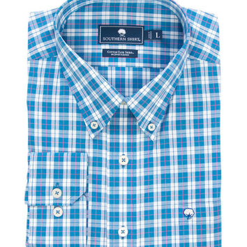 Southern Shirt Co - Caplewood Plaid Cotton Club Shirt Long Sleeve