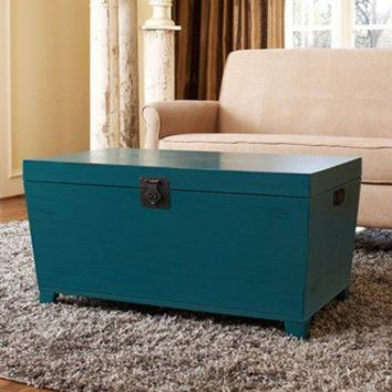 angelo:HOME Turquoise Pyramid Trunk Coffee Table | Overstock.com