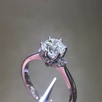 0.5 Carat Art Deco engagement ring, Antique Style, Round Cut Man Made Diamond, Unique Promise Ring for her, Anniversary Gift (FairyParadise)