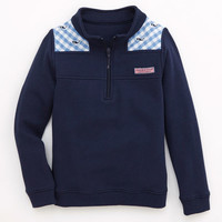 Girls Whale Embroidered Gingham Shep Shirt