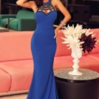 Royal Blue Elegant Mermaid Prom Dress