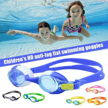 Kids Swimming Goggles Children Silicone Frame Glasses Adjustable strap HD Waterproof Anti-fog For Pool Beach Sea shop 6 colors