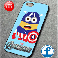 avenger minion captain america  for iphone, ipod, samsung galaxy, HTC and Nexus PHONE CASE