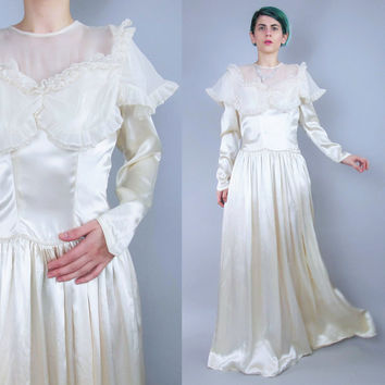 shop 1940s wedding dress on wanelo