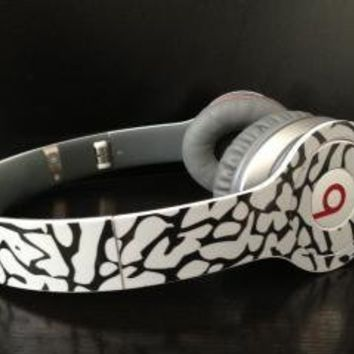 Cement Elephant Pattern Skin for Beats By Dre Solo (headphones NOT included)
