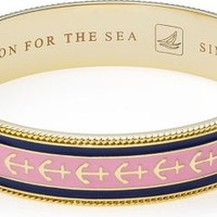 Sperry Top-Sider Enamel Anchor Bangle Gold/Pink/BlueAnchor, Size One Size  Women's